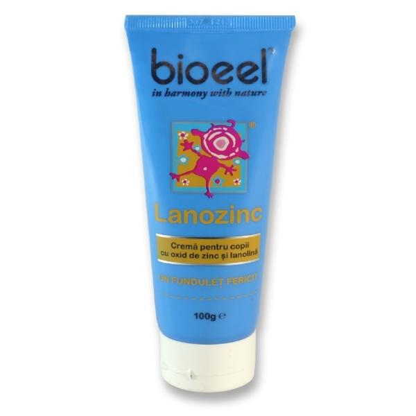 Crema cu oxid de zinc pentru copii 100 gr, Lanozinc, Bioeel