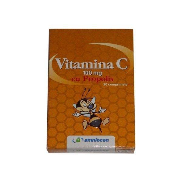 Vitamina C 100mg cu propolis 20 comprimante